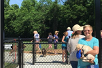 Central Bark dog park visitors enjoy the ribbon cutting