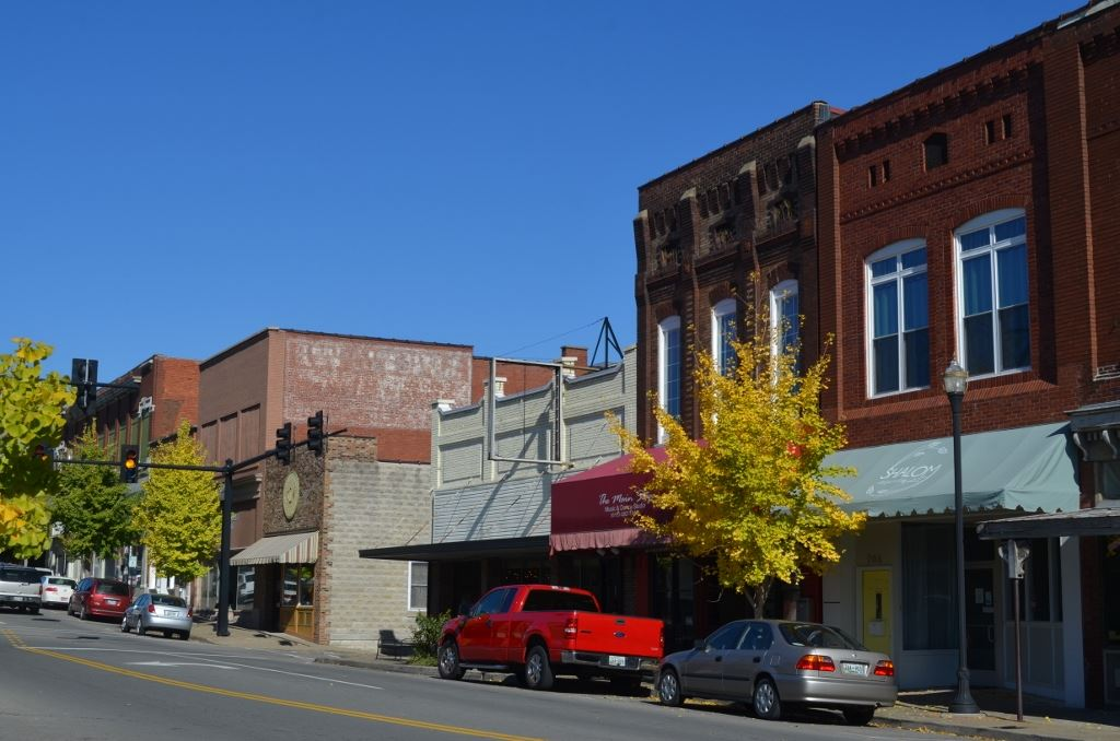 South Main Street View from Commerce Bank